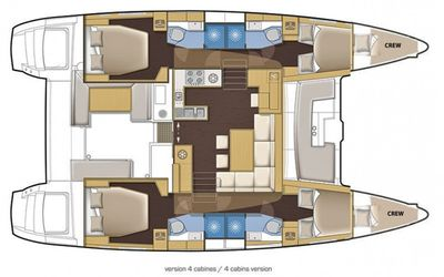 Yacht Charter DELICIA Layout