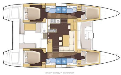 Yacht Charter GREAT ADVENTURE Layout