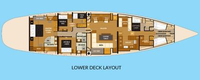 Yacht Charter SILVERLINING Layout
