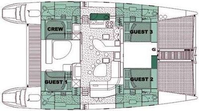 Yacht Charter TURQUOISE TURTLE Layout