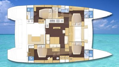 Yacht Charter COOL RUNNINGS IV Layout