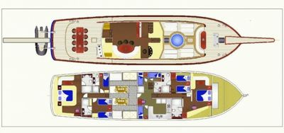 Yacht Charter BLUE HEAVEN Layout