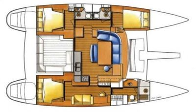 Yacht Charter FRENK Layout