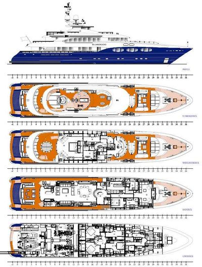 Yacht Charter SIROCCO Layout