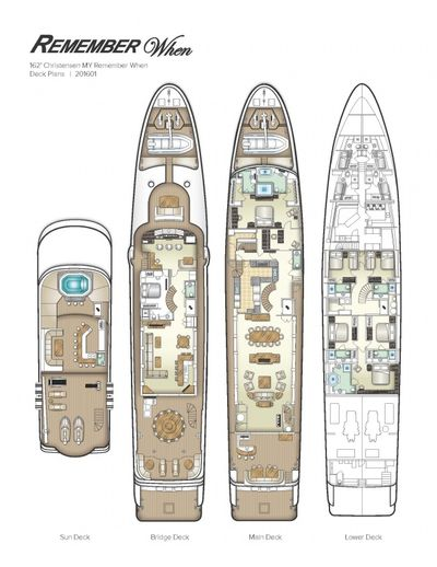 Yacht Charter REMEMBER WHEN Layout