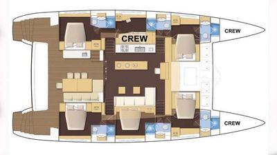 Yacht Charter SEAHOME Layout