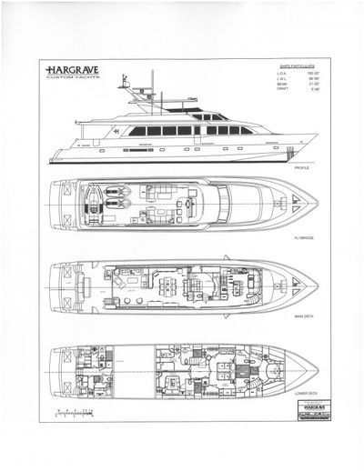 Yacht Charter INEVITABLE Layout