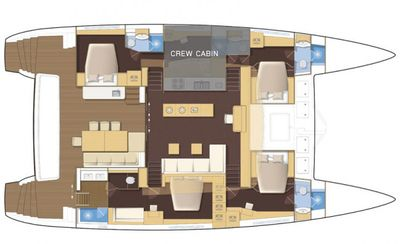 Yacht Charter TIGER LILY Layout