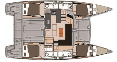 Yacht Charter ALLENDE Layout