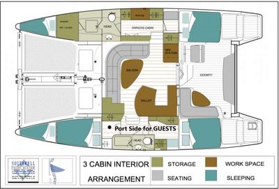 Yacht Charter ENTHEOS Layout