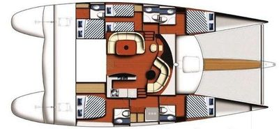 Yacht Charter VIVO Layout