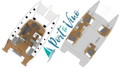Yacht Charter PORT TO VINO Layout