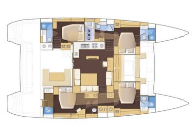 Yacht Charter WHISPERS II Layout