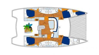 Yacht Charter ISLAND TIME (CAT) Layout