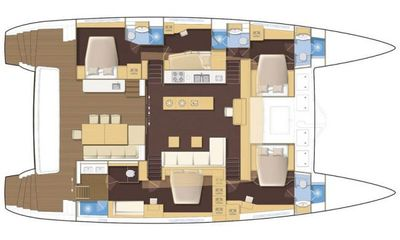 Yacht Charter DRAGONFLY Layout