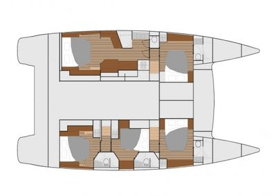 Yacht Charter SWEET PEA Layout