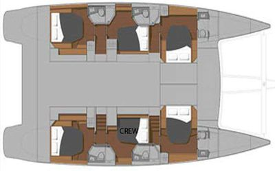 Yacht Charter Luxury TW60 5 Cabin Layout