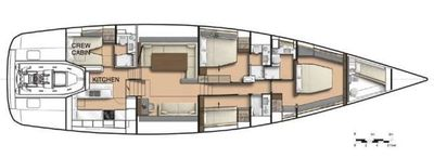 Yacht Charter CNB76 Layout