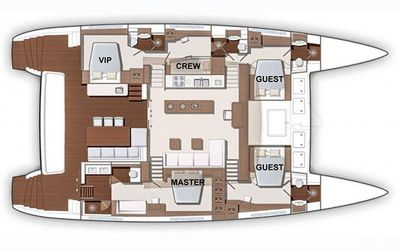 Yacht Charter CUTE LITTLE CAT Layout