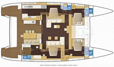 Yacht Charter LADY M Layout
