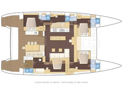 Yacht Charter TWIN FLAME Layout