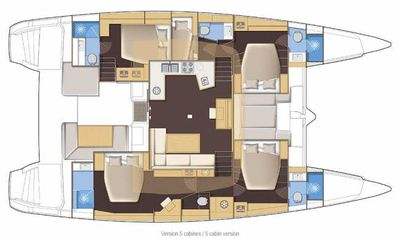 Yacht Charter STARLIGHT Layout