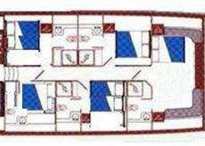 Yacht Charter LATIFE SULTAN Layout