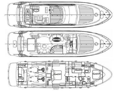 Yacht Charter GABY Layout