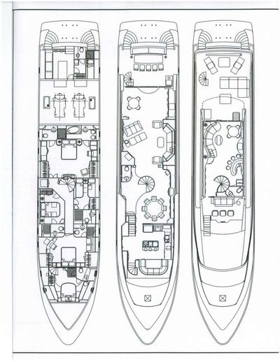 Yacht Charter SEA STAR Layout