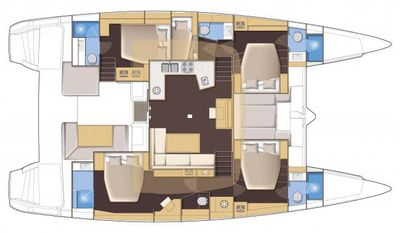 Yacht Charter SOUTHERN COMFORT Layout