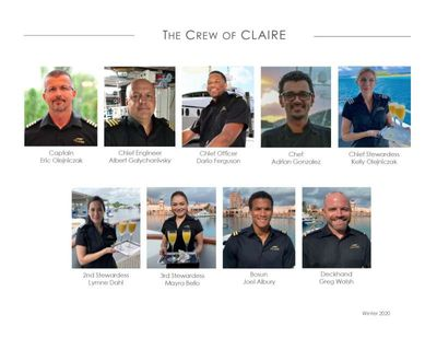 Yacht Charter CLAIRE Crew
