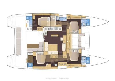 Yacht Charter SEA BLISS Layout
