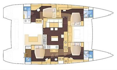 Yacht Charter BACCHUS Layout