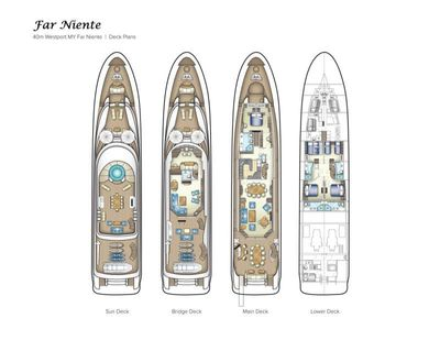 Yacht Charter FAR NIENTE Layout