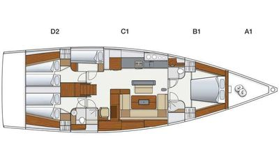 Yacht Charter Lilith Layout