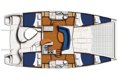 Yacht Charter SALTY GIRL Layout