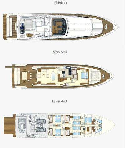 Yacht Charter SEA LION II Layout