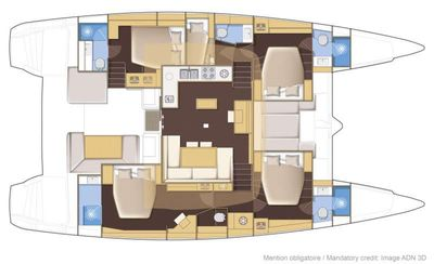 Yacht Charter Blue Moon Layout