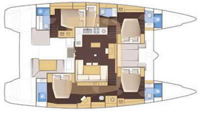 Yacht Charter FLO Layout