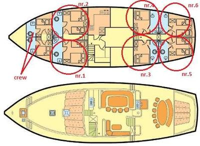 Yacht Charter Morning Star Layout