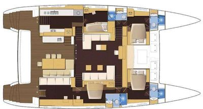 Yacht Charter GB Odyssey Layout