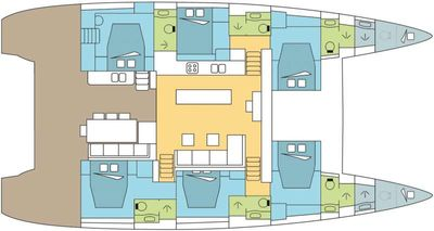 Yacht Charter DREAM ROQUES Layout