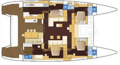 Yacht Charter My Destiny Layout