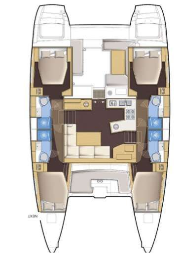 Yacht Charter Bright Moon Layout