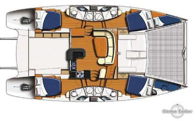 Yacht Charter THE SPACE BETWEEN Layout