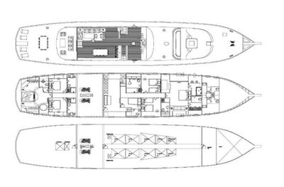 Yacht Charter PERLA DEL MARE Layout