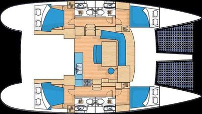 Yacht Charter Island Girl Layout