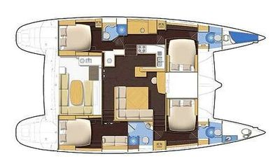 Yacht Charter TWIN PRIDE Layout
