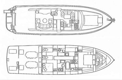 Yacht Charter Blue N' White Layout