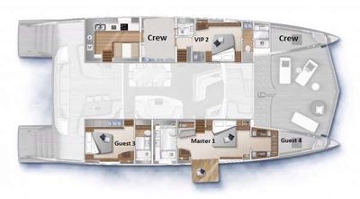 Yacht Charter DOUBLE DOWN Layout